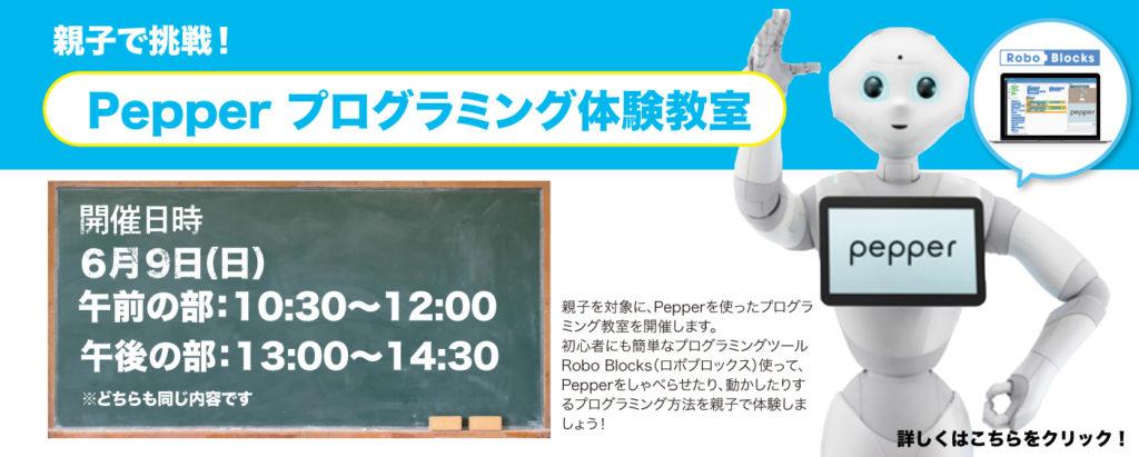 親子で挑戦!Pepper プログラミング体験教室